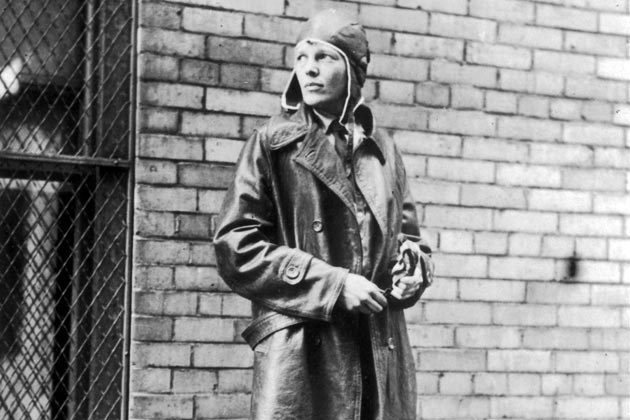 Aviatrix Amelia Earhart (1898-1937) in Newfoundland. Noted for her flights across the Atlantic and Pacific oceans, Earhart disappeared without trace in her attempt to fly around the world. #aviatrix