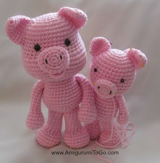 Big Piggy Little Pig New Pattern Coming ~ Amigurumi To Go
