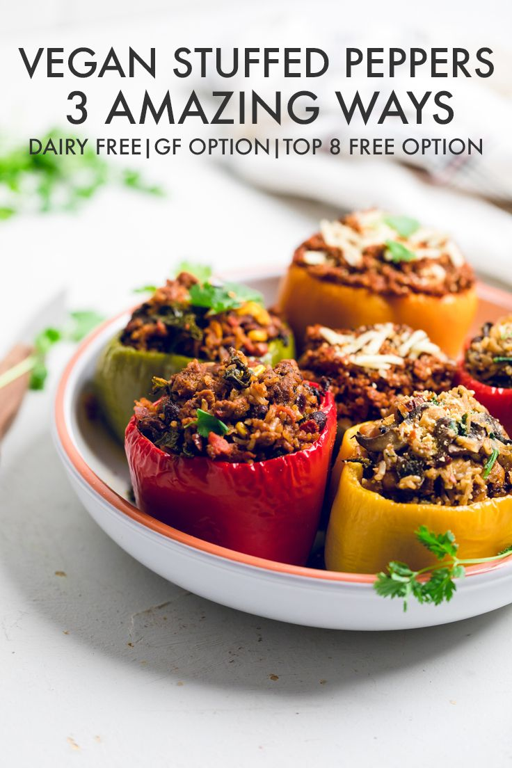 Vegan Stuffed Peppers Vegan Stuffed Peppers Veg Dinner Recipes Stuffed Peppers