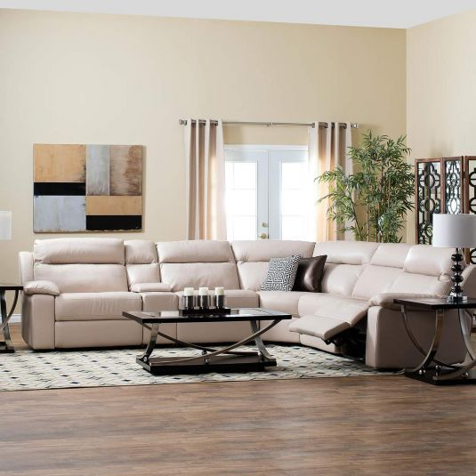Jeromes Furniture Offers The Dawson Leather Reclining Sectional At Best Prices Possible With Same Day Delivery