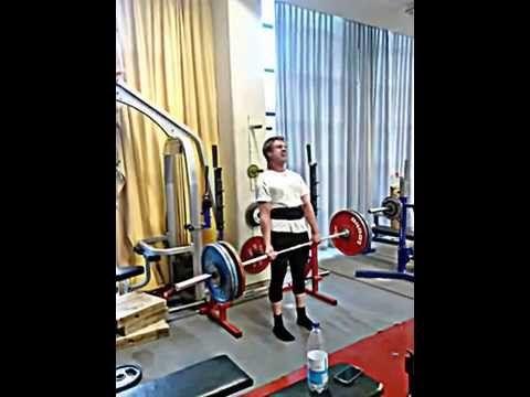 Deadlift/ Markløft: 185 kg x 5 reps. Bodyweight: 81 kg.