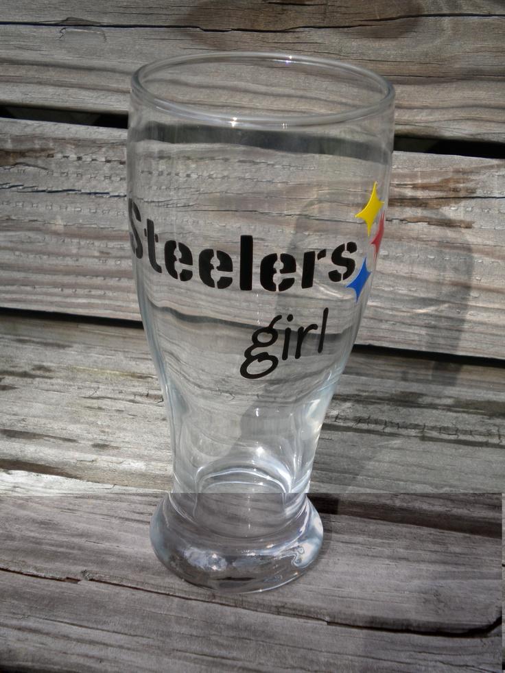 Pittsburgh Steelers Girl Beer Pilsner by osewcutedesigns on Etsy