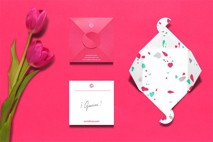 Enviaflores giftcard. Design by www.anagrama.com