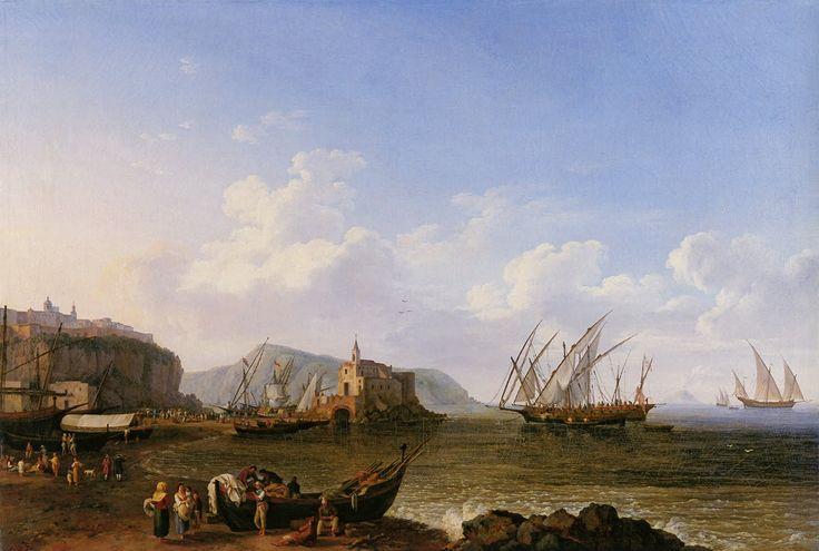 Puerto de Lipari, con el volcán Strómboli al fondo