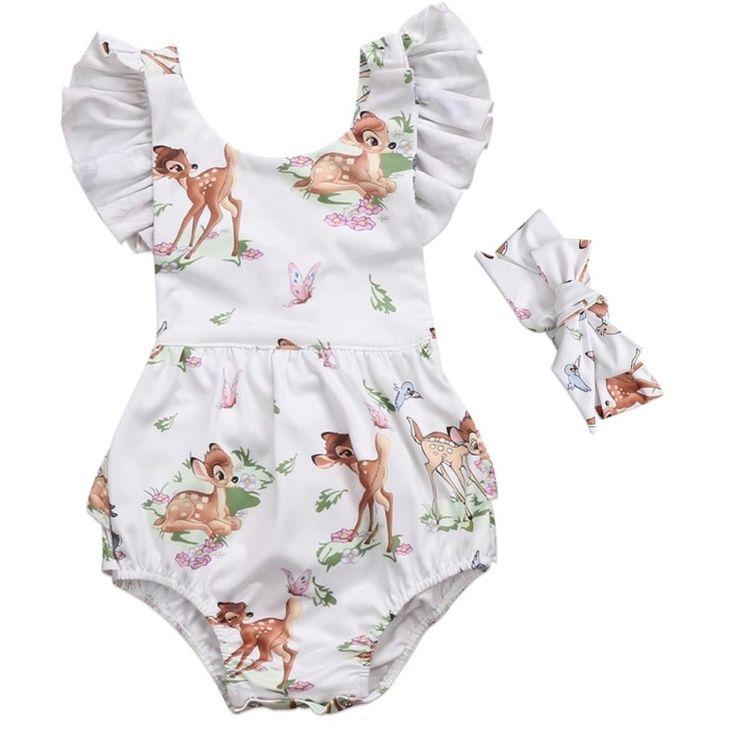Baby Bambi Flutter Romper Set