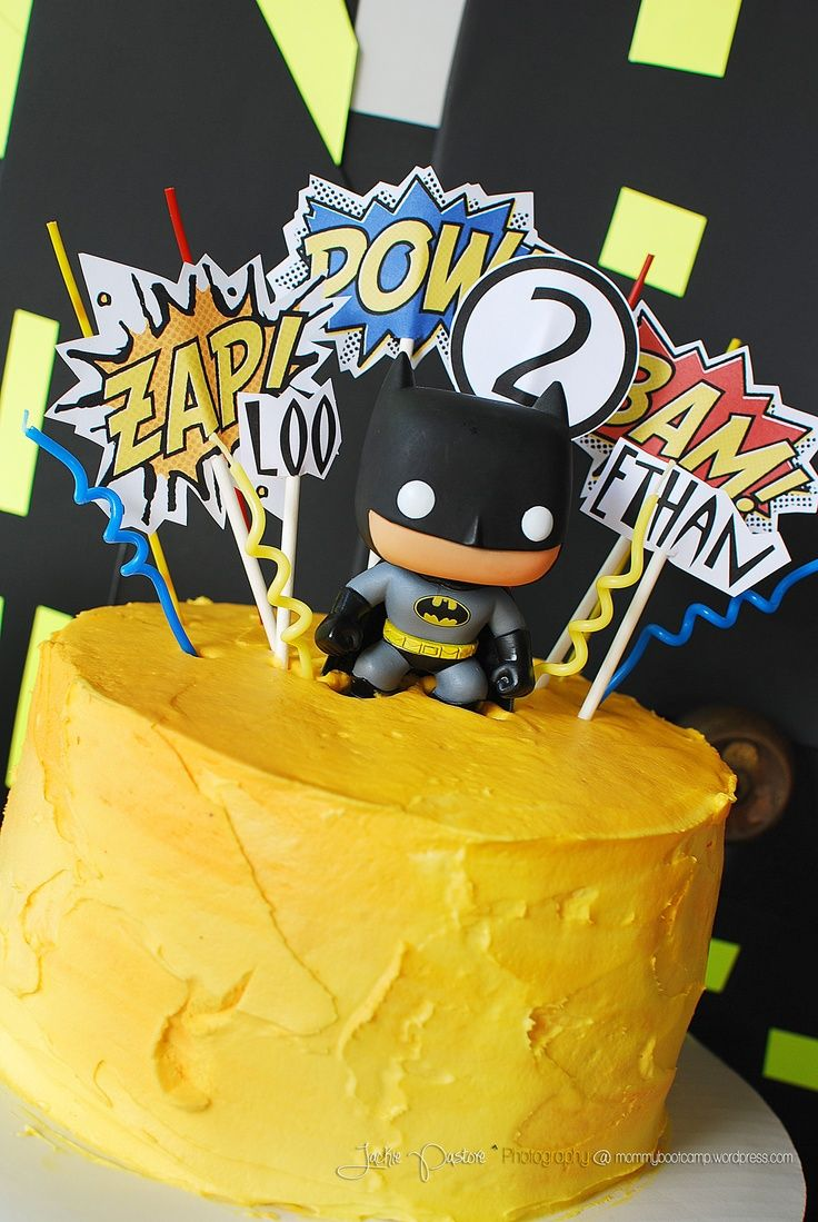 Yellow Icing Batman Cake