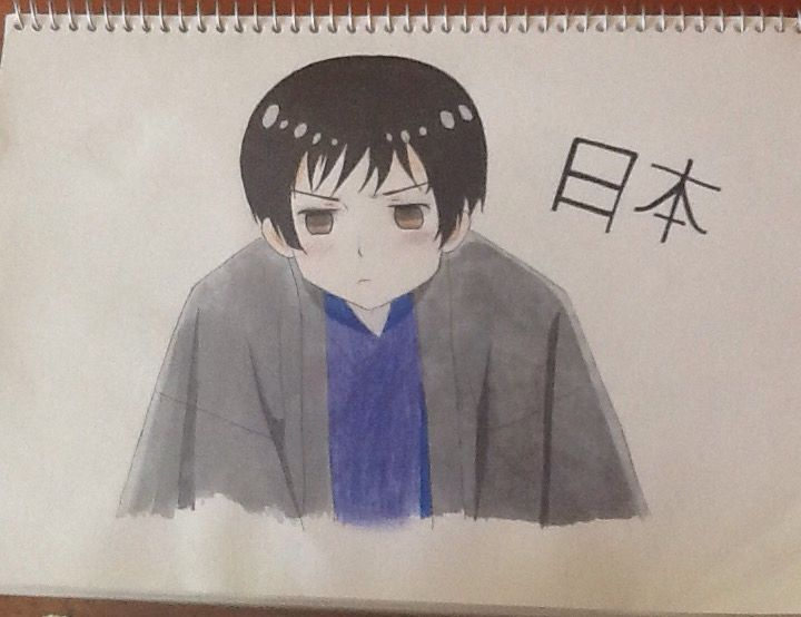 A little drawing of japan I did  (ノ◕ヮ◕)ノ*:・゚✧! I hope you guys like it! Credit to Chloe Pash! sorry the photo quality's so bad