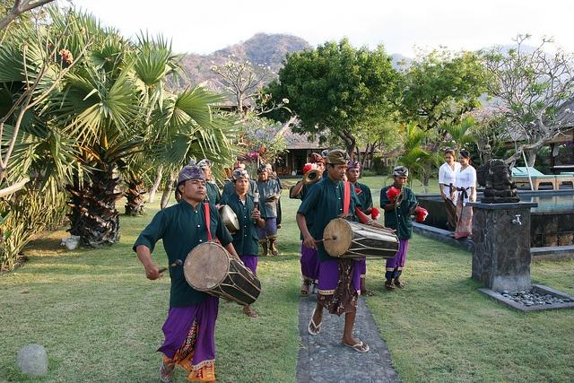 Gamalan band   Wedding Ceremony at Villa Semadhi Pemuteran Bali  http://www.villasemadhibali.com/
