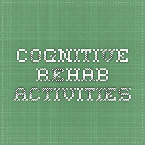 Cognitive Rehab Activities