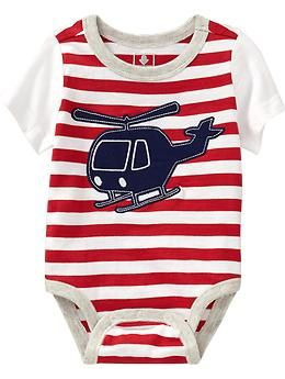 Graphic-Applique Bodysuits for Baby (Old Navy 0-24m)