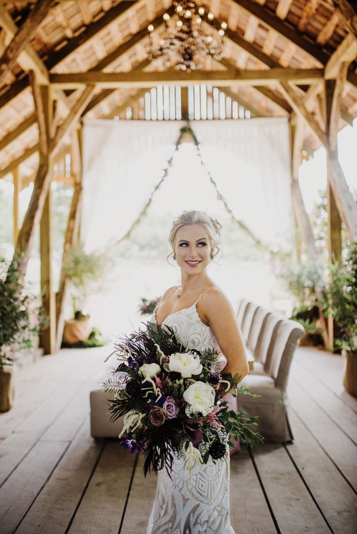 winter wonderland wedding south africa%0A Dramatic Vintage Wedding Inspiration in Purple and White