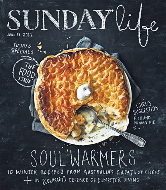 Sunday Life (Australia)Chalkboards, Food Style, Life Magazines, Hands Letters, Chalk Boards, Covers Design, Food Photography, Sunday Life, Magazines Covers