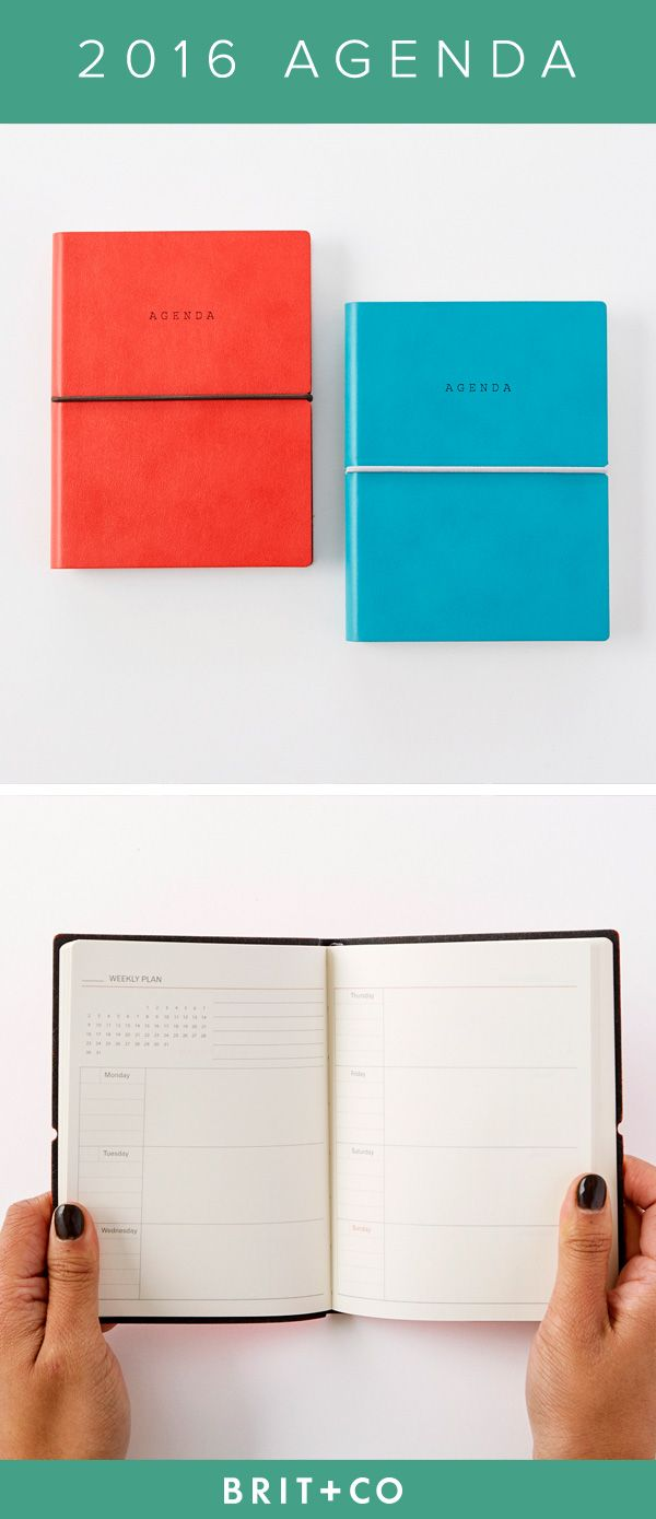 Keep yourself organized throughout 2016 with the help of this leatherbound agenda planner.