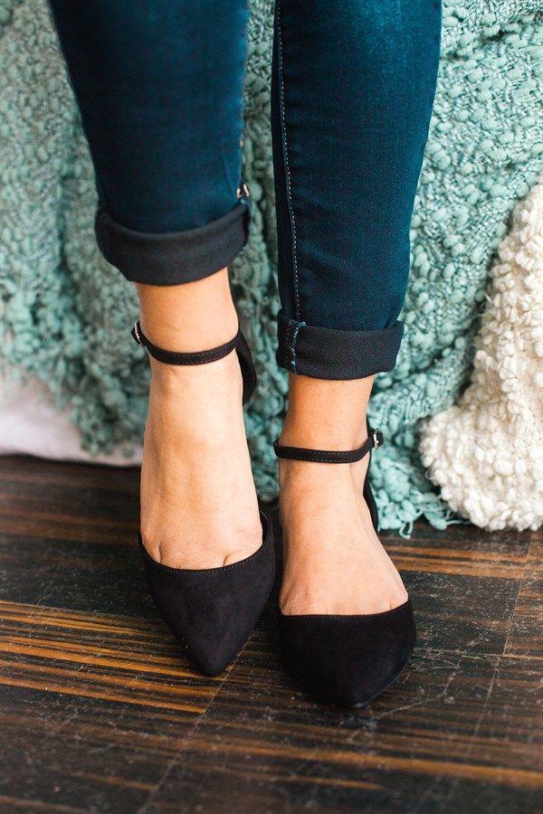 Ankle Strap Flats   5 Colors!
