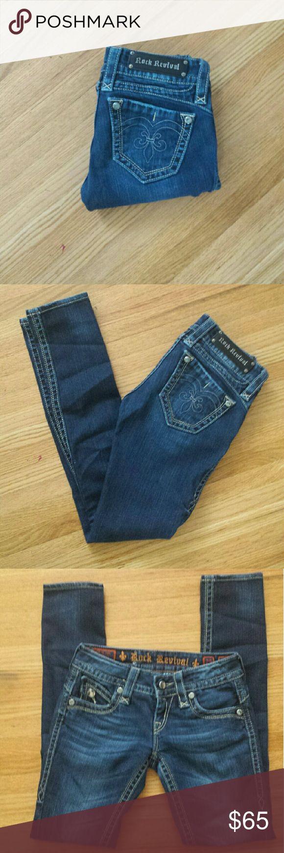 """Rock Revival Jeans Adele Description ✅ Size 25  ✅ Inseam 31"""" ✅ Adele Skinny Rock Revival Jeans Skinny"""
