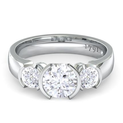 most contemporary wedding rings for woman | Eternal Round Brilliant Engagement Ring in 18kt White Gold - Diamond ...