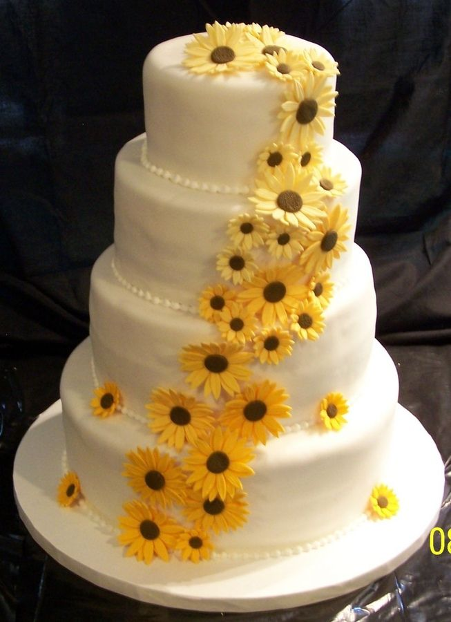 rustic sunflower wedding cake | ... Sunflowers Wedding Cake Simple Delightful Sunflower Cake on Pinterest