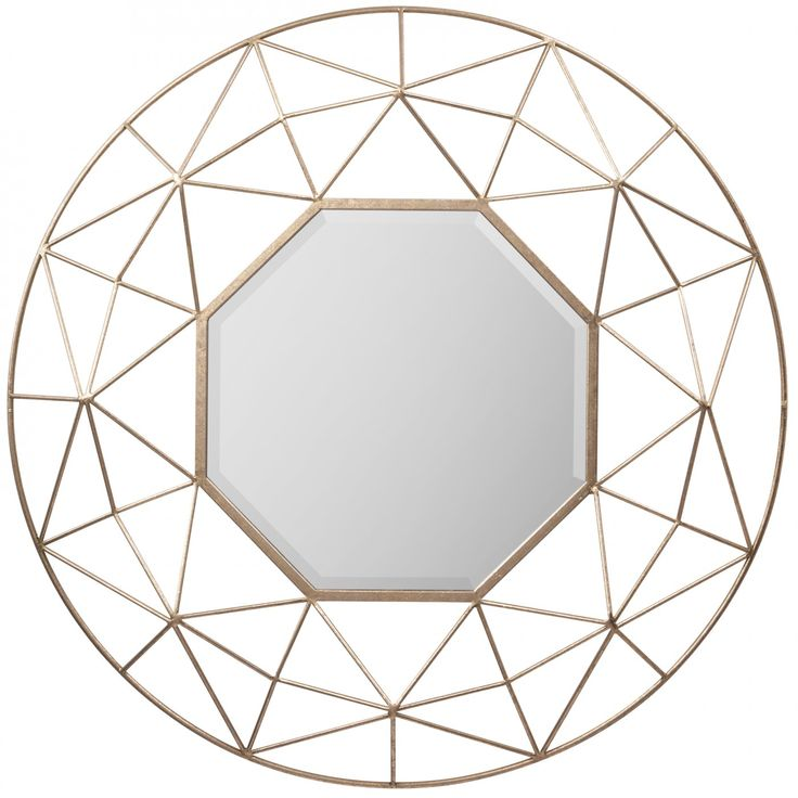 The burnished tones of gold are on trend this season in furniture, lighting and accessories. The Andreas Mirror features an open and airy 3D linear wire design in textured gold providing your walls with accent and dimension.
