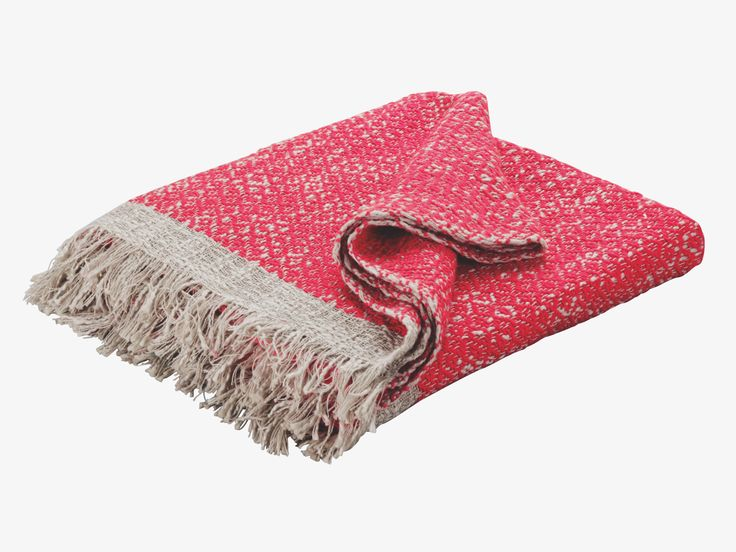 MARYANA PINK Cotton Pink textured cotton throw - HabitatUK