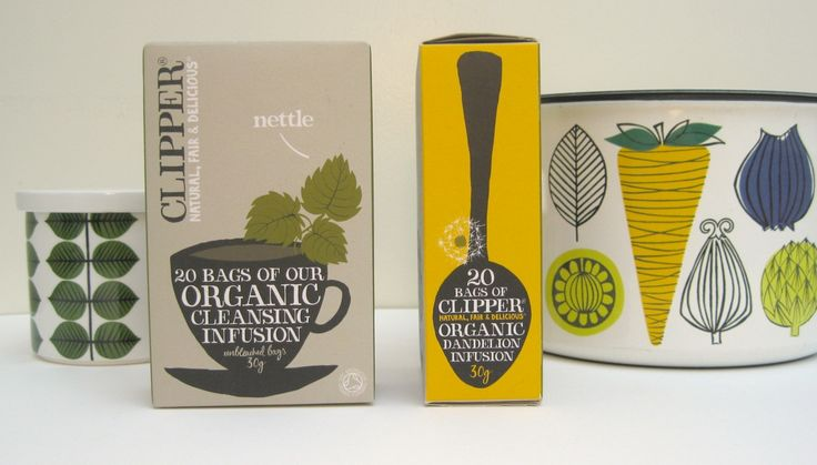 Clipper tea designed by Big Fish. Pictured with preserve jar by Stig Lindberg and cooking pot by Esteri Tomula.