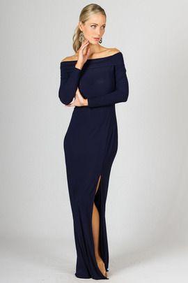 Marlene Maxi Dress - Navy by Paper Scissors Frock
