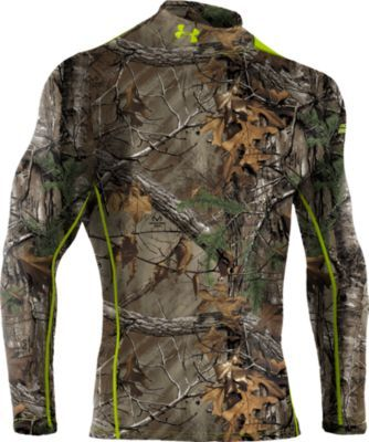 Enhanced by UA Scent-Control technology, this super-soft hunting layer brings outstanding warmth, undeniable comfort and the advantage of scent control to your hunt. Constructed of breathable, four-way-stretch ColdGear® fabric, this bulk-free layer actively transports moisture away from skin for dry comfort.  Sizes:  S-3XL. Available in a variety of camo patterns. (darker color)