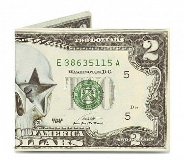 Peněženka #mightywallet Two Dollar Skull Mighty Wallet. #bontonland http://www.bontonland.cz/two-dollar-skull-mighty-wallet/