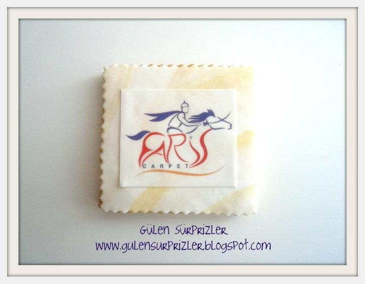 Cookie with company logo