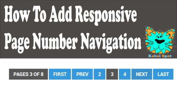 How To Add Responsive Page Number Navigation