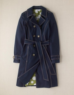 Multi-purpose spring trench, plus fun lining.