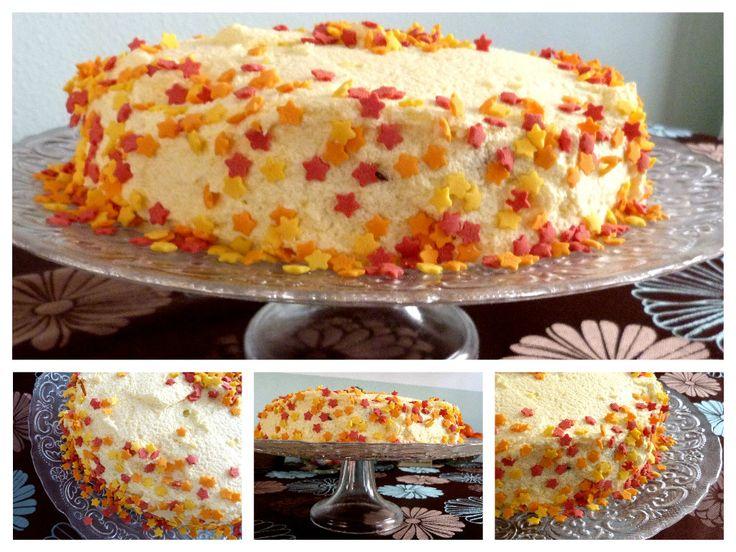 Vanilla and orange cake