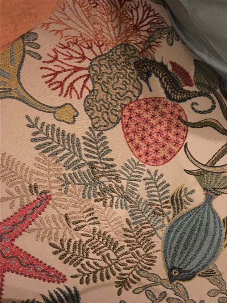 Loved this upholstery in a recent Hawaii  vacation rental.