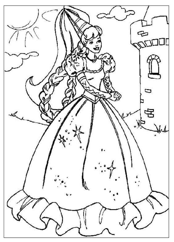 jonkvrouw kleurplaat prinses kleurplaatjes kerstmis