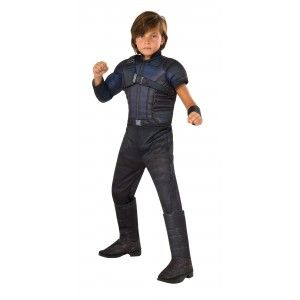 Hawkeye Muscle Chest Kids Avengers Costume Price: $39.95  From Captain America: Civil War this deluxe Hawkeye costume includes a padded printed jumpsuit with sculpted muscle.  Perfect for your favorite Captain America comic book or The Avengers fan for Halloween or play time.  Officially Licensed Marvel Costume from The Avengers.  #cosplay #costumes #halloween