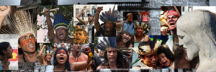 #bresil, #jo2016 - #rio. La vieille bâtisse du « Musée de l'Indien », appelée « Aldeia #maracana », résiste au temps et à la spéculation. Deux ans et demi que les Indiens n'ont plus le droit d'y mettre les pieds.