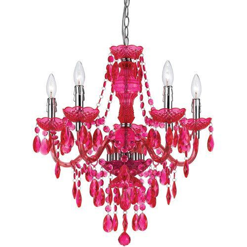 1000+ ideas about Pink Chandelier on Pinterest | Chandelier for ...:Hot Pink Chandelier,Lighting