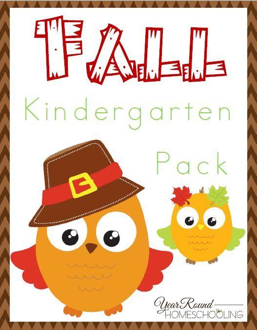 Free Fall Kindergarten Pack -