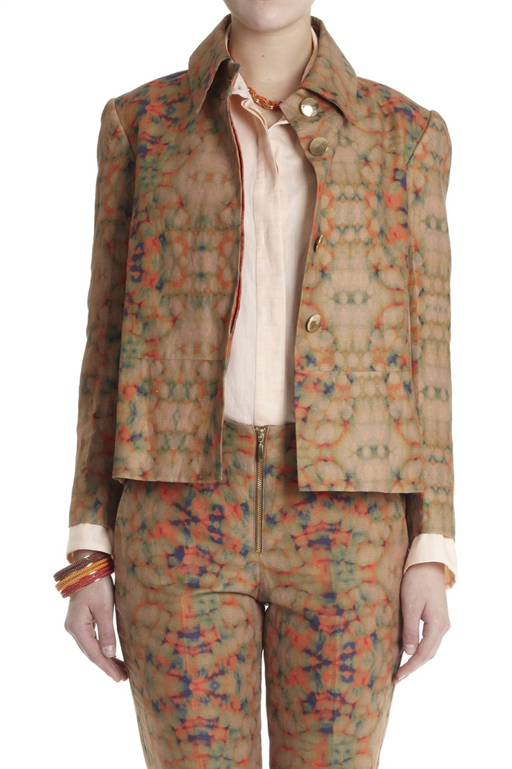 All Clothing - SHINING PRINT BOXY JACKET WITH OVER SIZED COLLAR - Lisa Ho - Textile design by Rouse Phillips