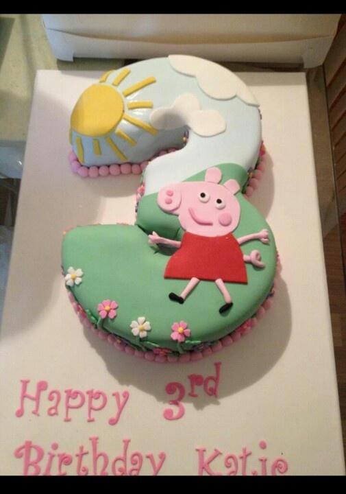Pepper Pig cake.