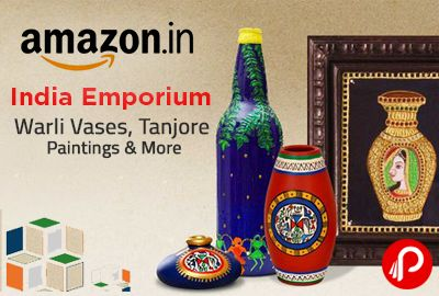 Amazon Make In India is brings Indian Emporium Items Collection Warli Vases, Tanjore Paintings, Paata paintings, Clocks with Bastar artwork, Jaipuri cotton wall hanging, Jaipuri Quilts, Baster Decor, & Many more Items.India is home to a number of art forms. Our regional store promises to highlight the best of India's traditional work which includes Paata paintings, Clocks with Bastar artwork.  http://www.paisebachaoindia.com/buy-indian-emporium-items-collection-make-in-india-amazon/