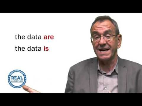 Real Vocabulary: Is 'data' singular or plural? - YouTube