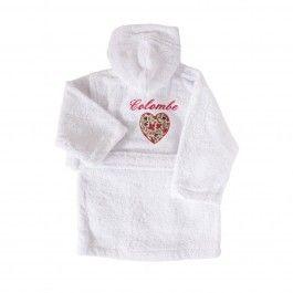 Little-boudoir.com - Cadeau naissance personnalisé : peignoir brodé prénom