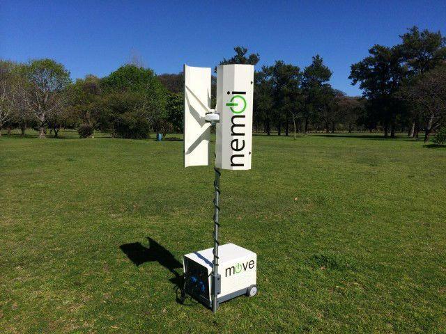 Jovens argentinos criam gerador portátil de energia eólica