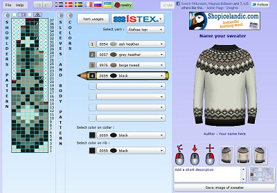 knittingpatterns.is  A website that allows you to design an Icelandic yoke sweater to your specifications.  I'll try it as soon as I knit a gauge swatch.