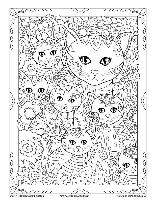 Mom And Kitties Creative Kittens Coloring Book By Marjorie Sarnat Kitten Coloring Book Coloring Pages Cat Coloring Page