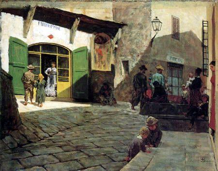 Toscane, Settignano, par Telemaco Signorini
