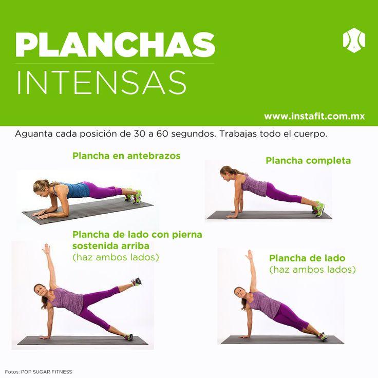 Plank workout. Planchas. Entra a www.instafit.com