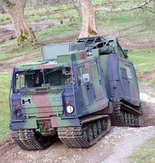 Irish Army Hagglund Bv206 fitted with GIRAFFE Radar