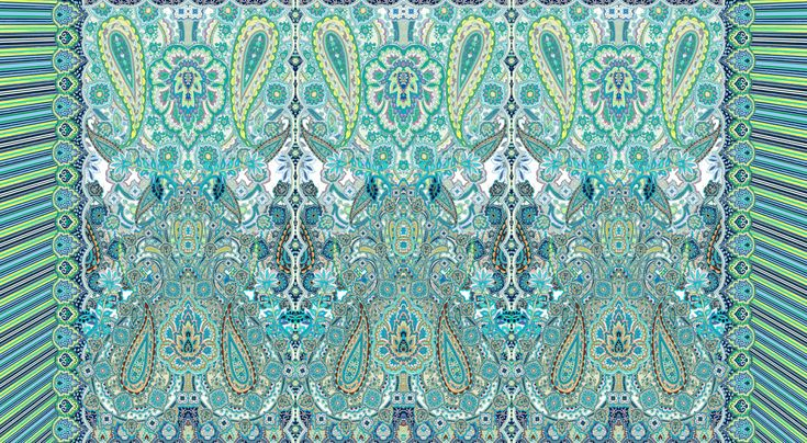 """Green Paisley"" grafica di TheColorSoup  #paisley #pattern #colors #textile"