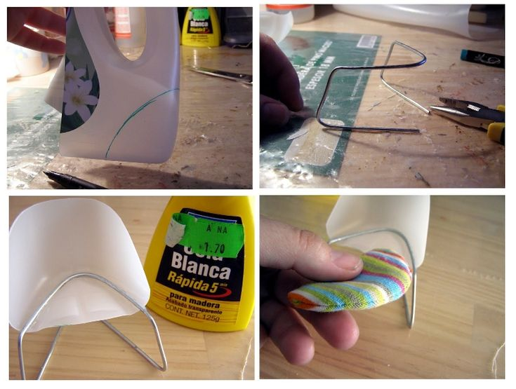 USING THE BOTTOM OF A PLASTIC BOTTLE  FOR A MODERN CHAIR